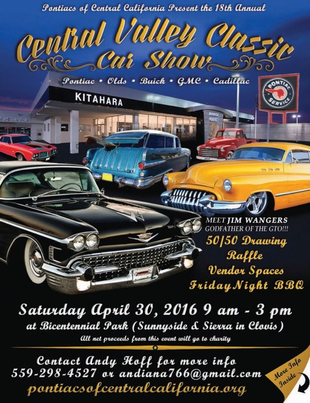 Central Valley Classic Car Show  Car Show And Event Flyers