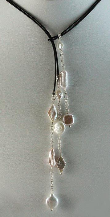 Kailey Lariat – Blue Lotus Jewelry. Las piezas finales son con un bucle final …