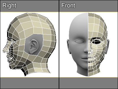 how to create human head with cylinder on blender