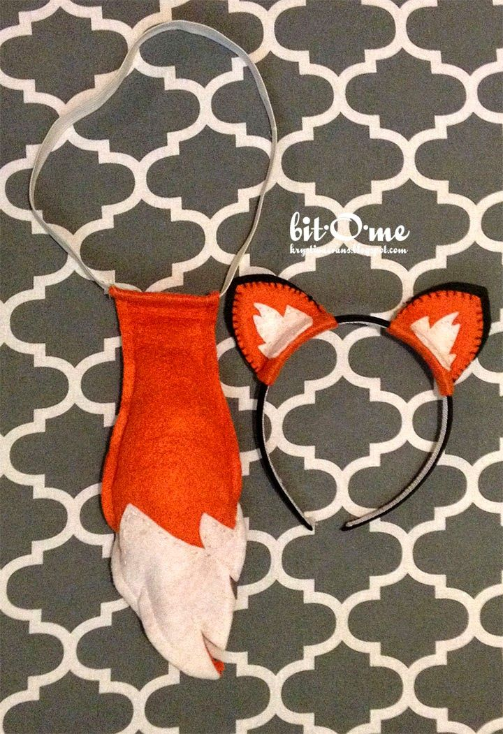Felt Fox Tail and Ears {Free Pattern} -   24 diy costume fox ideas
