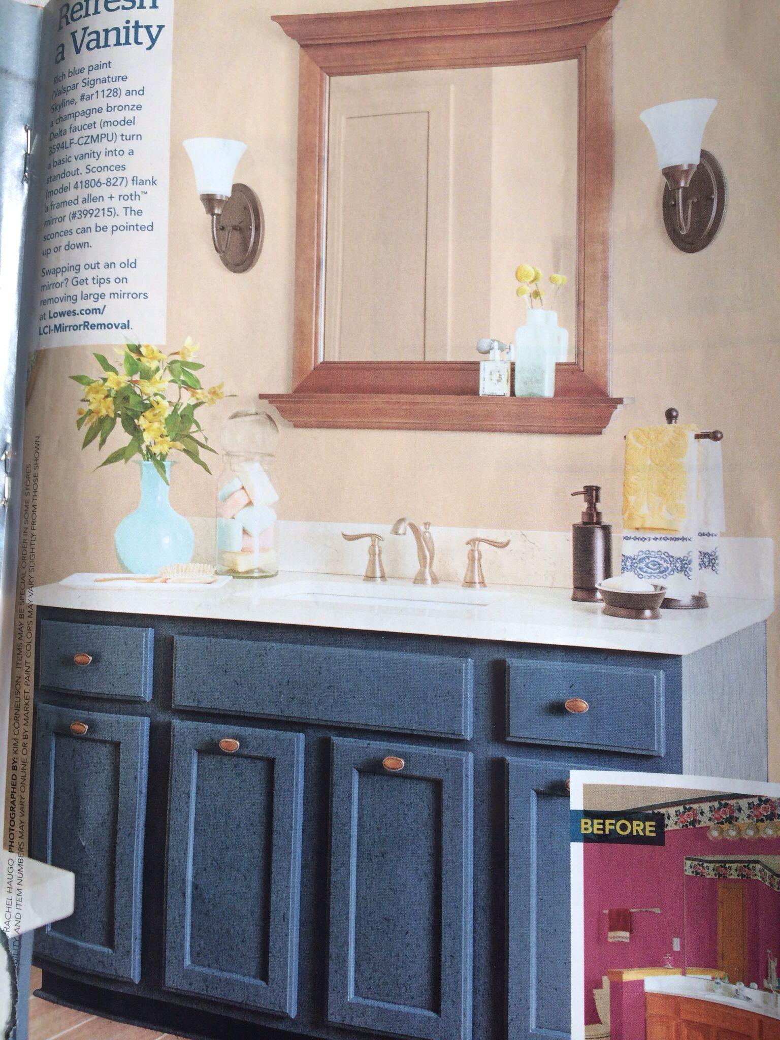 Paint 2 valspar painted cabinets beautiful valspar cabinet paint - Rich Blue Paint Valspar Signature Skyline Ar1128