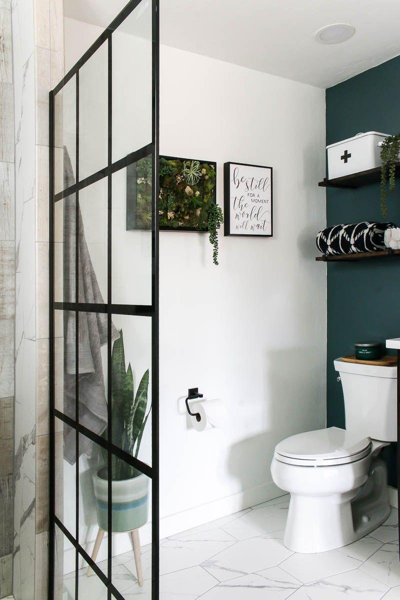 Modern Bathroom Reveal Making Manzanita In 2020 Bathroom Renovation Cost Modern Bathroom Renovations Industrial Farmhouse Decor