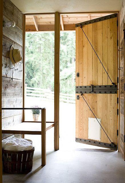 Iron And Wood Split Farm Door