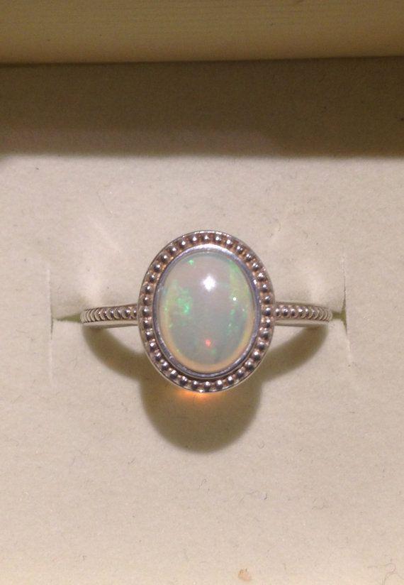 Opale australienne bague bague verte Soft-opale par OpalEmbers