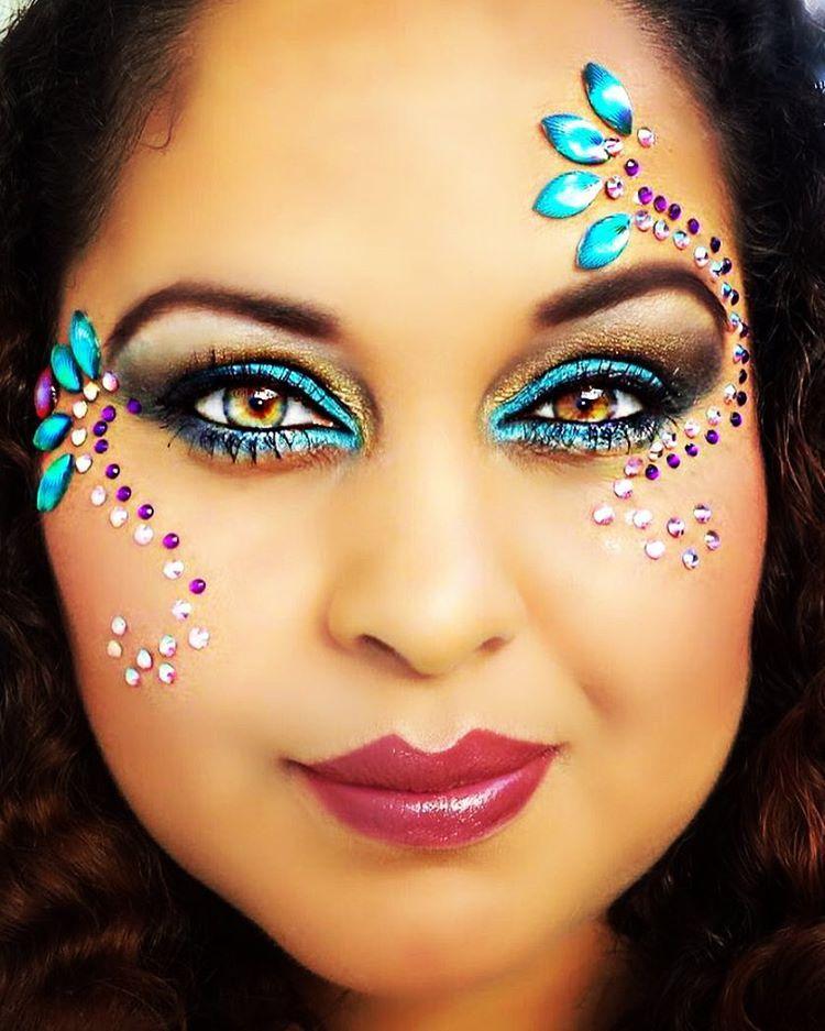 Carnival Makeup Makeupbywens Rhinestone Makeup Carnival Makeup