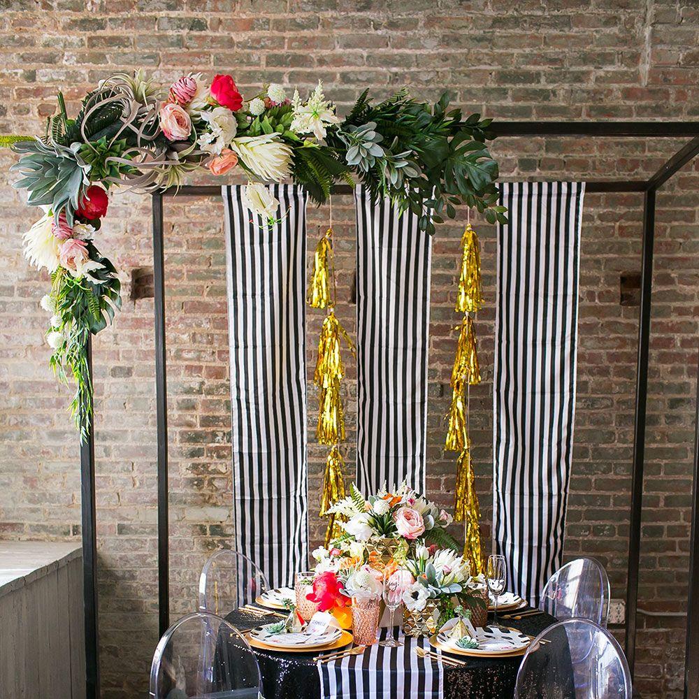 Wedding decorations arch  paper flower wedding arch  Google Search  Wedding WestDecorations