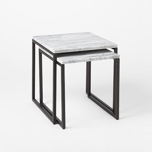 Box Frame Nesting Tables Marble Antique Bronze Diy Marble Table Marble Side Tables Marble Coffee Table