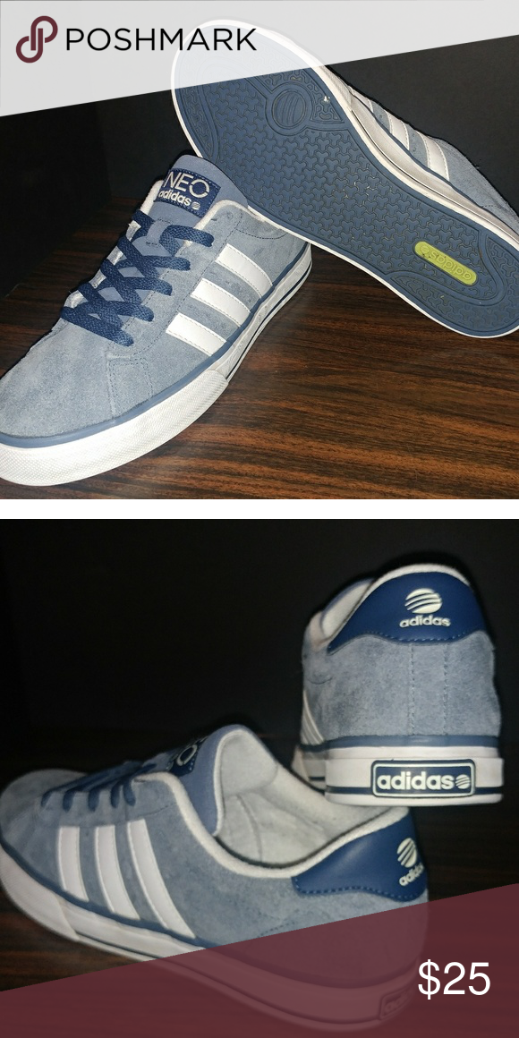 online store b5687 f5829 Adidas Neo Suede Shoes Blue suede, Lightly worn Adidas Shoes Sneakers