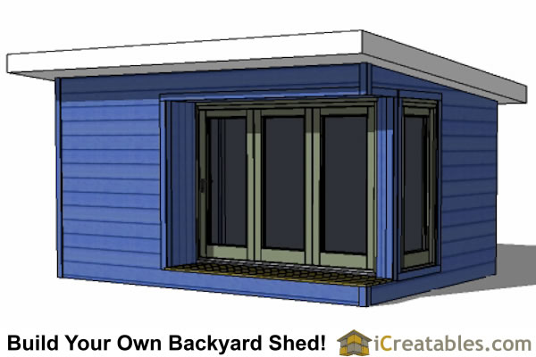 12x16 Modern Shed Plans   Build Your Backyard Office Space ...
