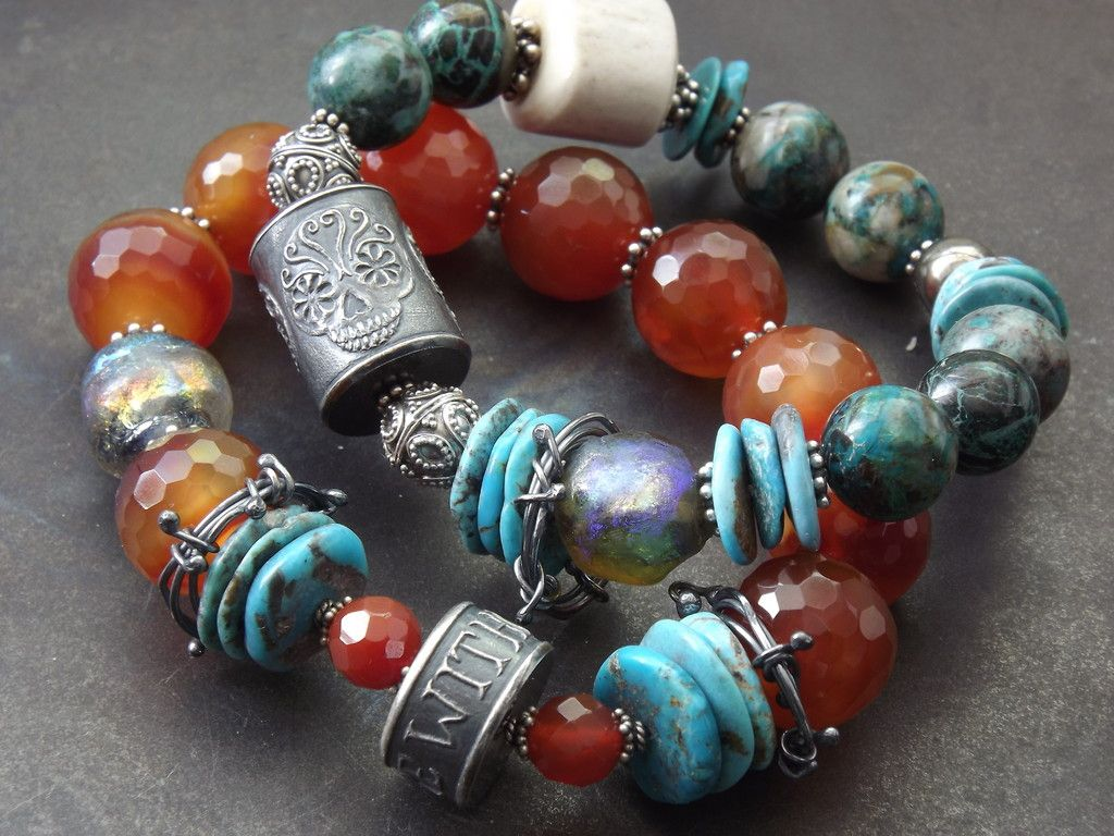 Barbed Wire Skull Bracelet (Customer Design) - Lima Beads | Jewlery ...