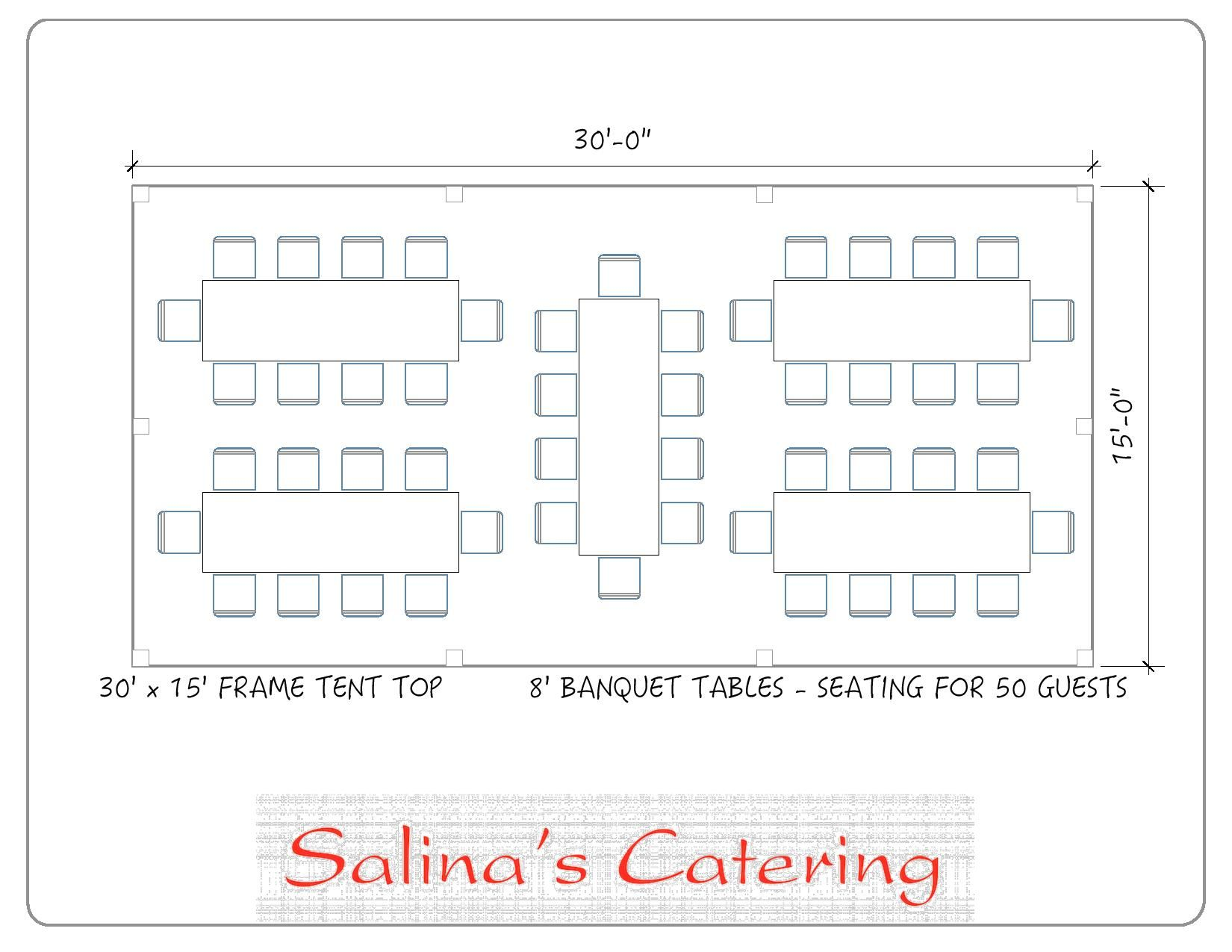 40x80 Tent With Rows Of Rectangle Guest Tables A Simple