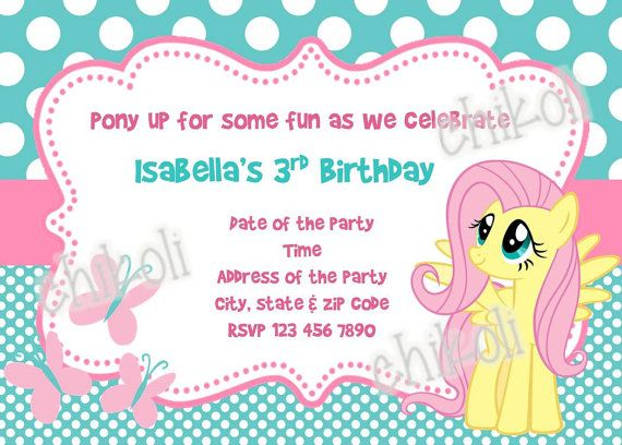 My little pony birthday party invitations and thank you by Chikoli – Invitations for Birthdays