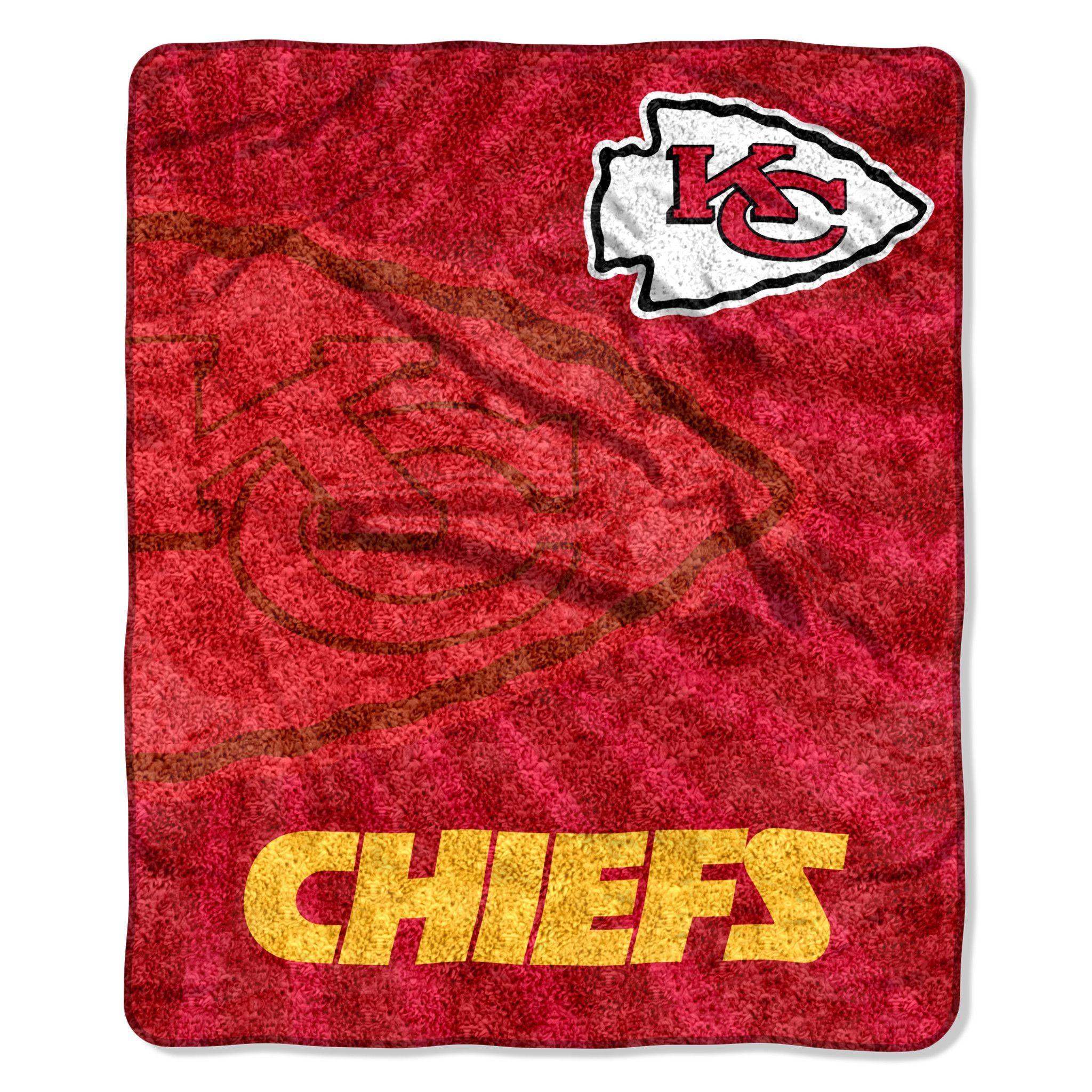 Kansas City Chiefs Blanket - 50x60 Sherpa - Strobe Design   Products ...