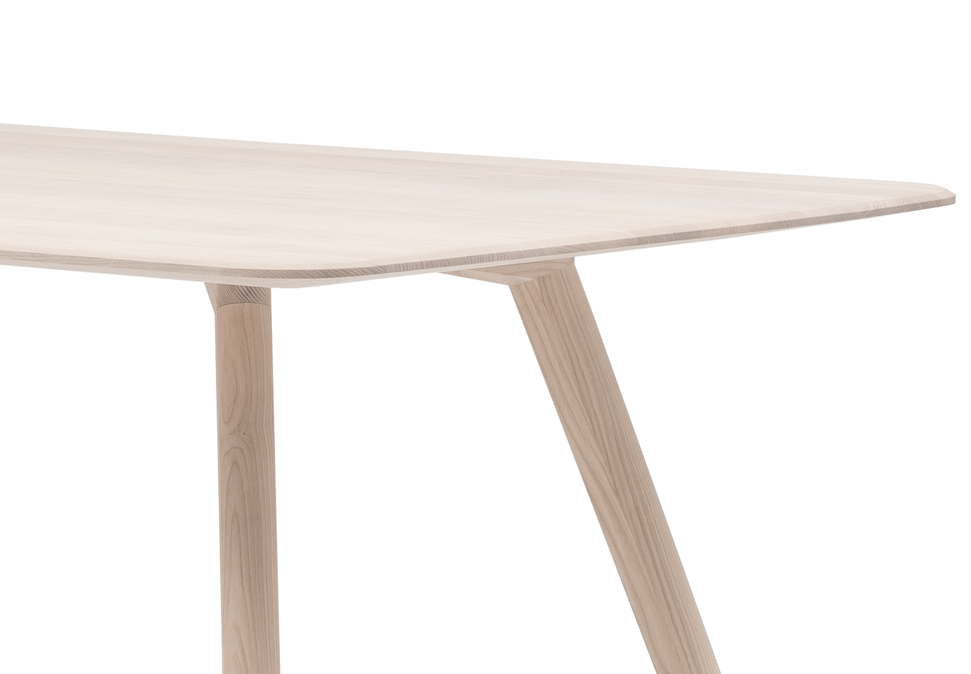 Meyer Designed By David Spinner Solid Ash Table Frontal Close Up Of The Table Top And Leg Mount Out Outgermany Objekte Unserer Tage Feine Mobel Esstisch