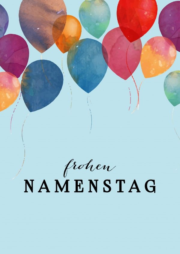 frohen namenstag namenstag name day pinterest namenstag postkarten online und versenden. Black Bedroom Furniture Sets. Home Design Ideas