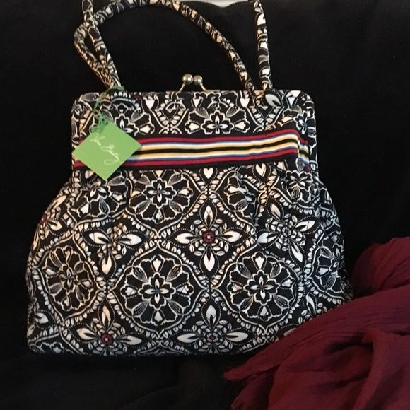 Vera Bradley black and red satchel Gorgeous brand new purse , unique design , large and in perfect condition Vera Bradley Bags Satchels