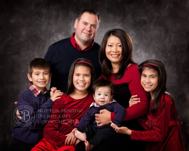 Jewel Tones For Formal Studio Portrait Family PosesFamily Outfits