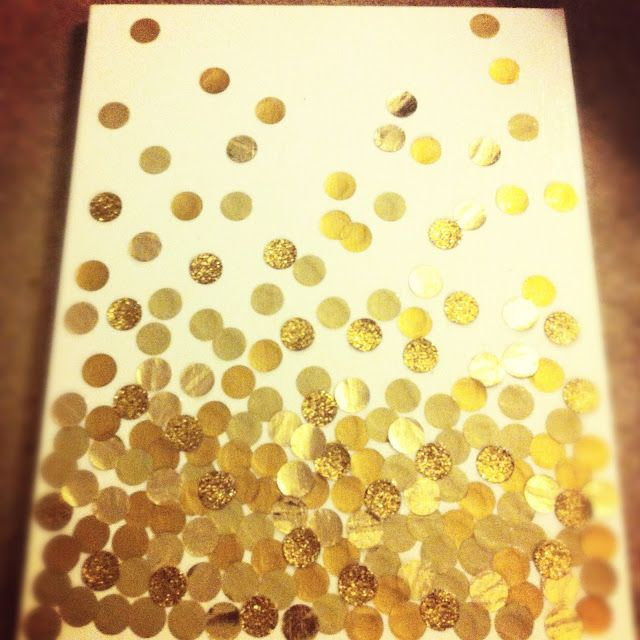 DIY Polka Dot Canvas - this is screaming to be made into a grouping ...