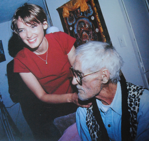 Winona with her Godfather, Timothy Leary