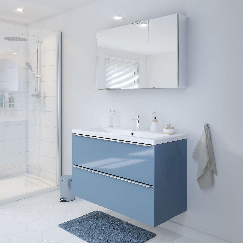 Cooke Lewis Imandra Gloss Blue Vanity Basin Unit W 1000mm Blue Vanity Vanity Basin Goodhome
