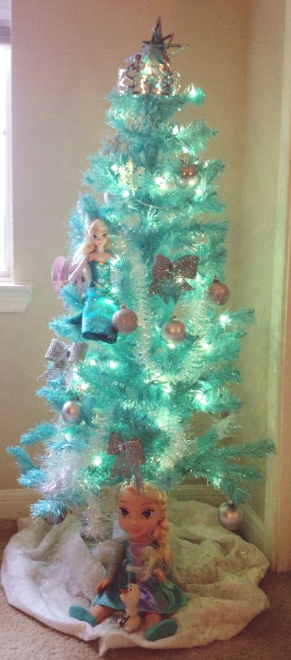 My kids bedroom Frozen themed Christmas Tree. For less ...