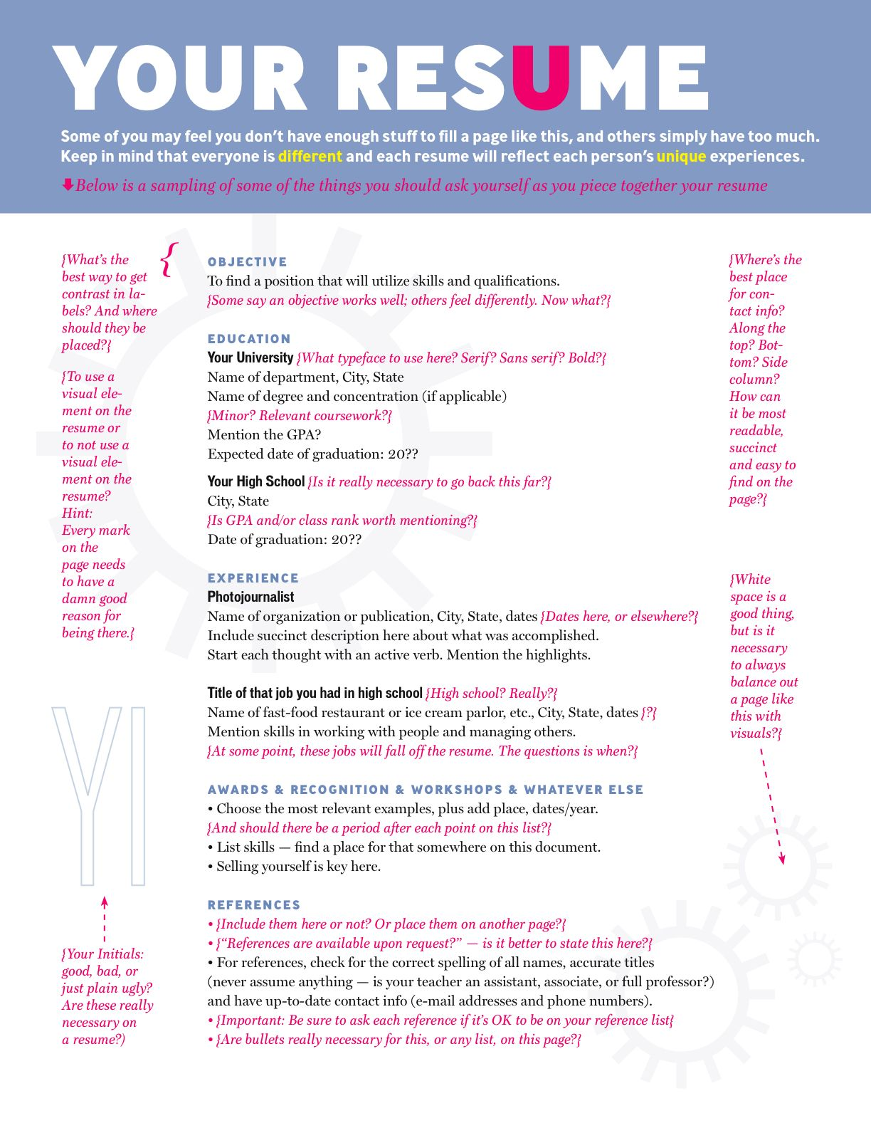 Guidelines for writing a great resume! Cover letter for