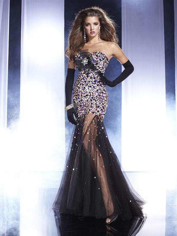 6c73773e69 Vestido de Noche Largo Negro muy Elegante