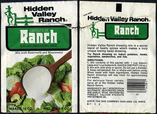 Hidden Valley Ranch Original Ranch Salad Dressing Mix Packet 1976 Buttermilk Ranch Dressing Recipe Ranch Salad Dressing Mix Retro Recipes