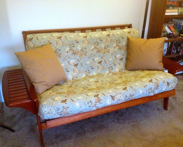 Diy Futon Cover Using Ed Sheet Pattern Dress Up The Upstairs Room With Kid Friendly