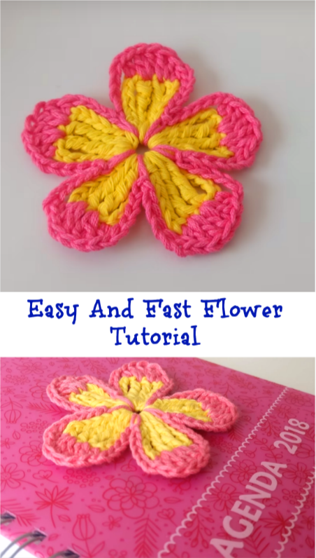 Easy And Fast Flower | Costura,tejido, crochet,tips | Pinterest ...