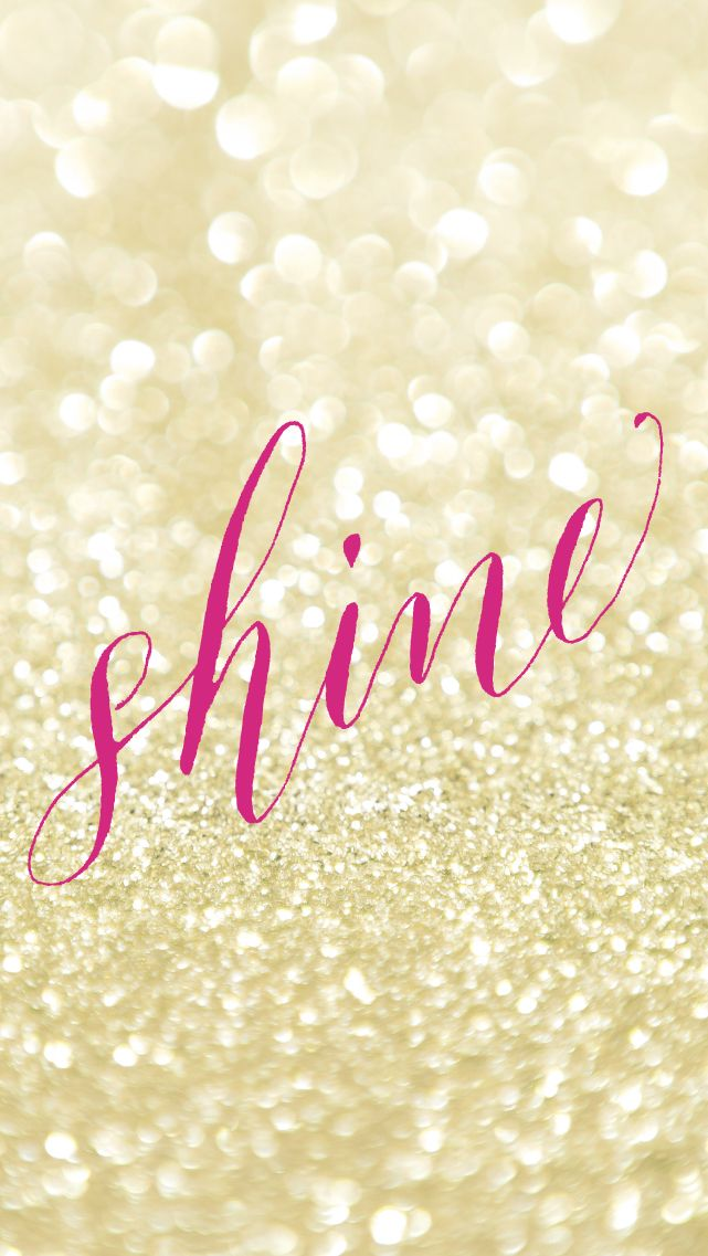 Pink fuchsia Shine gold glitter iphone background wallpaper phone lock screen   Fondos para ...
