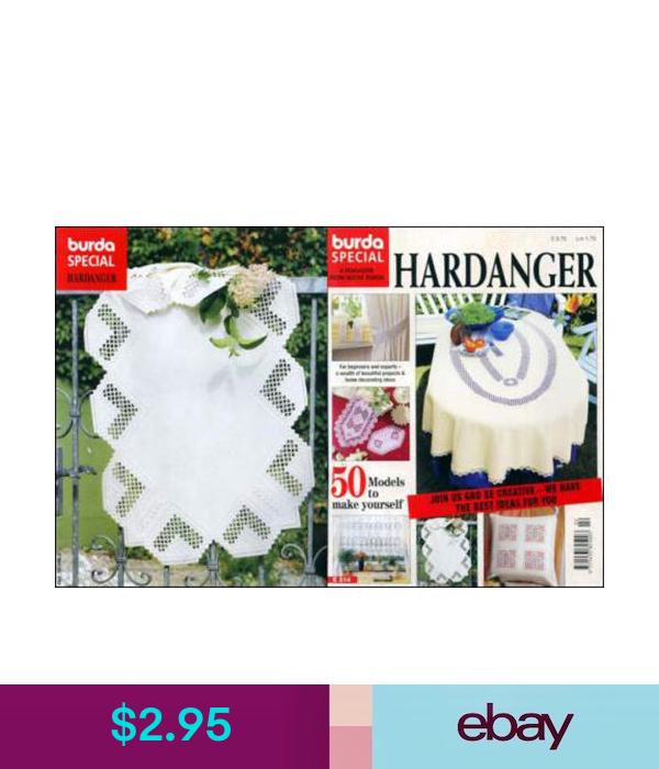 Burda Special Hardanger Magazine Issue #E514  Brand New Embroidery
