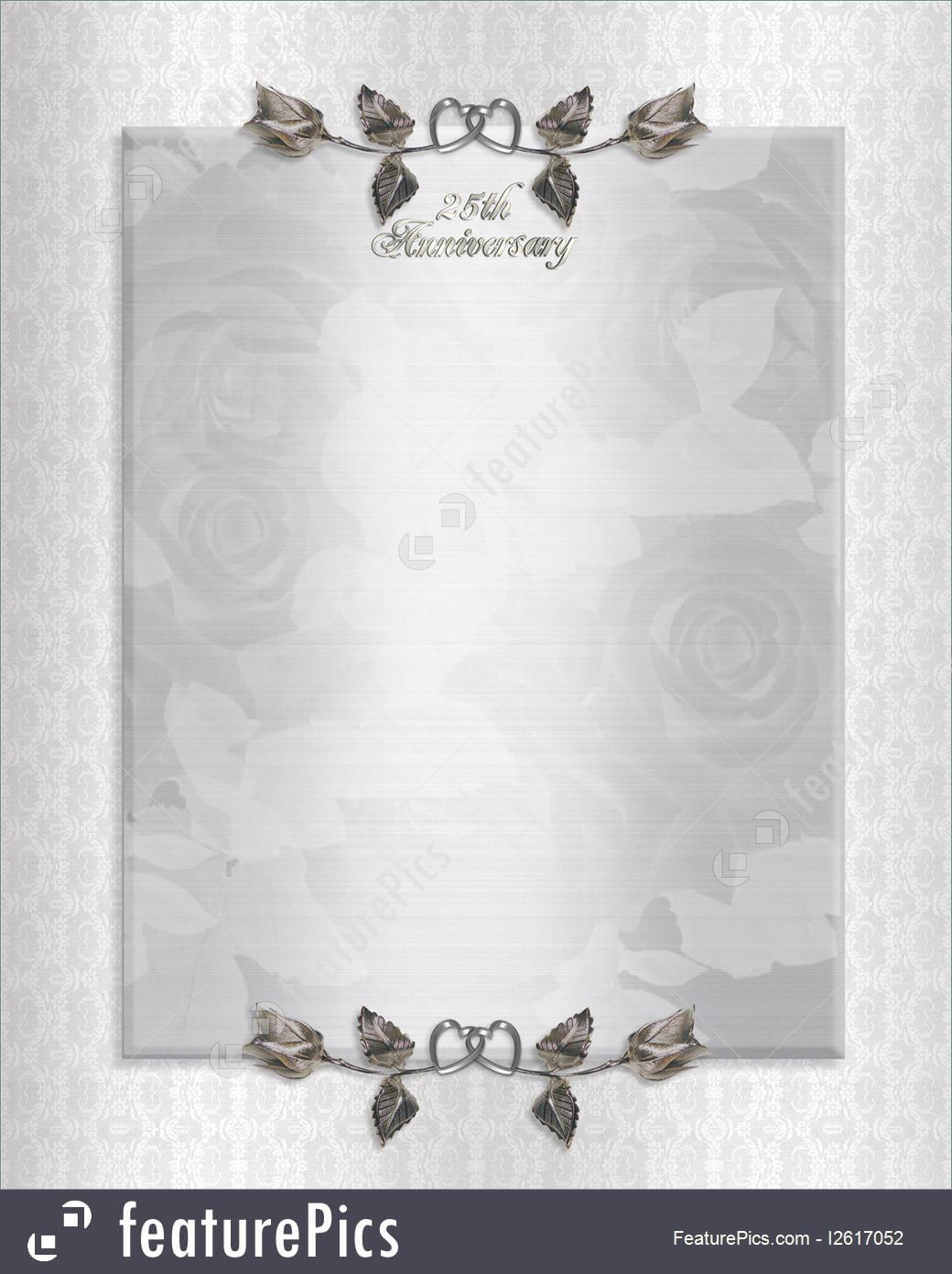 Silver Anniversary Invitation Cards | 25th wedding ...
