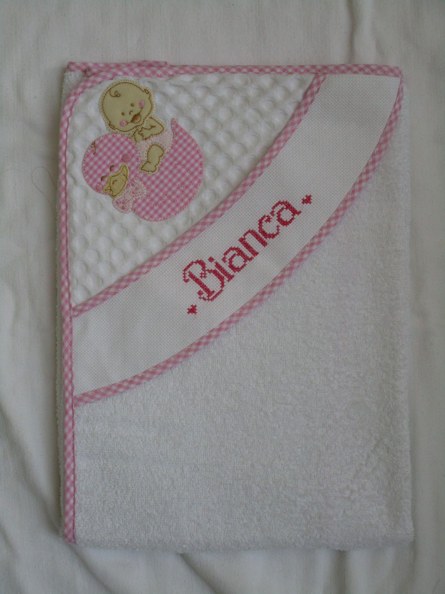 ee845098b6 Accappatoio personalizzato per Bianca; | toallas y batas | Quadro ...