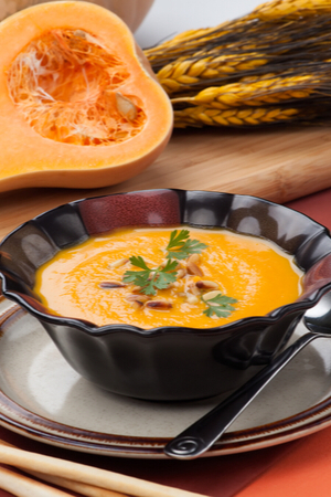 Thick and Creamy Roasted Butternut Squash Soup #butternutsquashsoup
