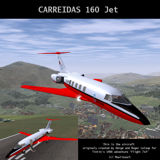 FlightGear Addon - Carreidas 160 Jet screenshot 1 • the real