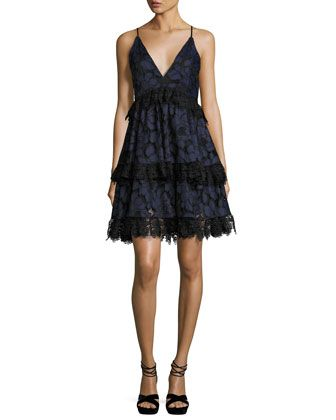 kendall  kylie lace sleeveless corset fit  flare dress