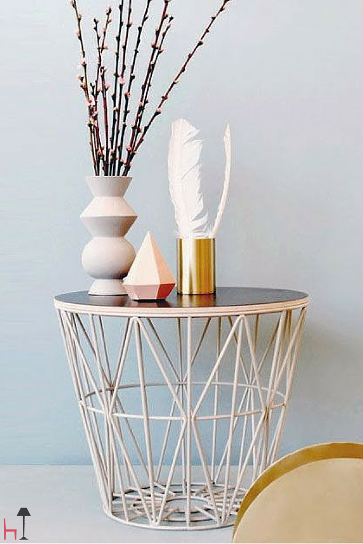 Wire basket large by Ferm Living | Small space inspiration ...