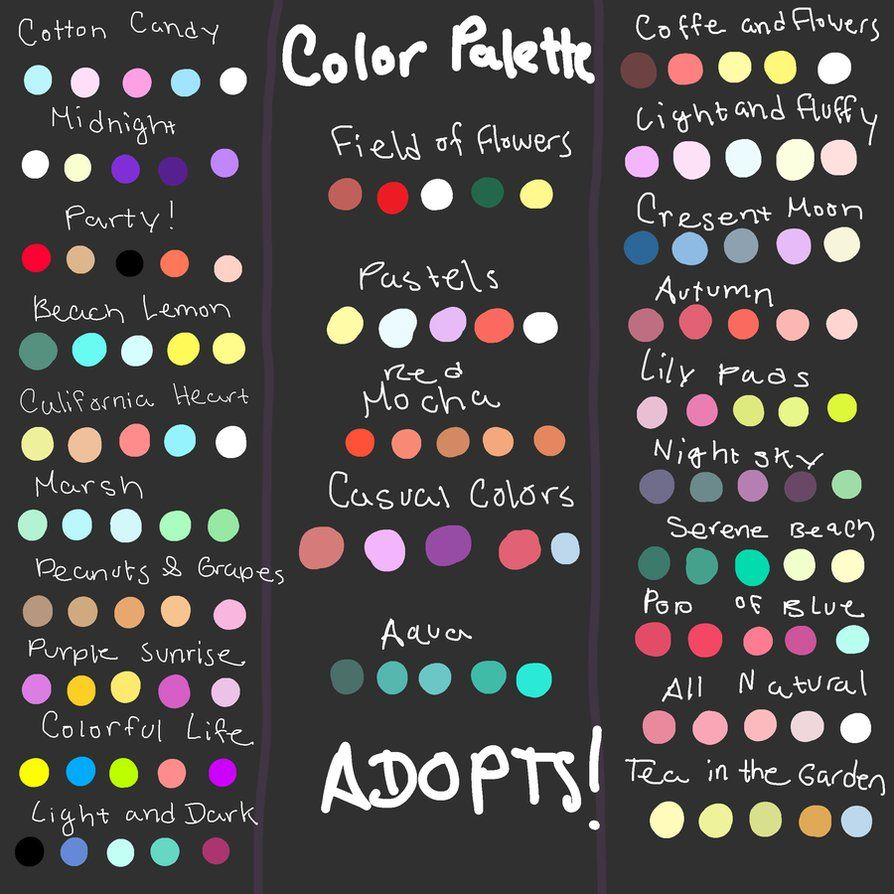 Character Design Colour Palette : Giant color palette adopt dump read desc closed by