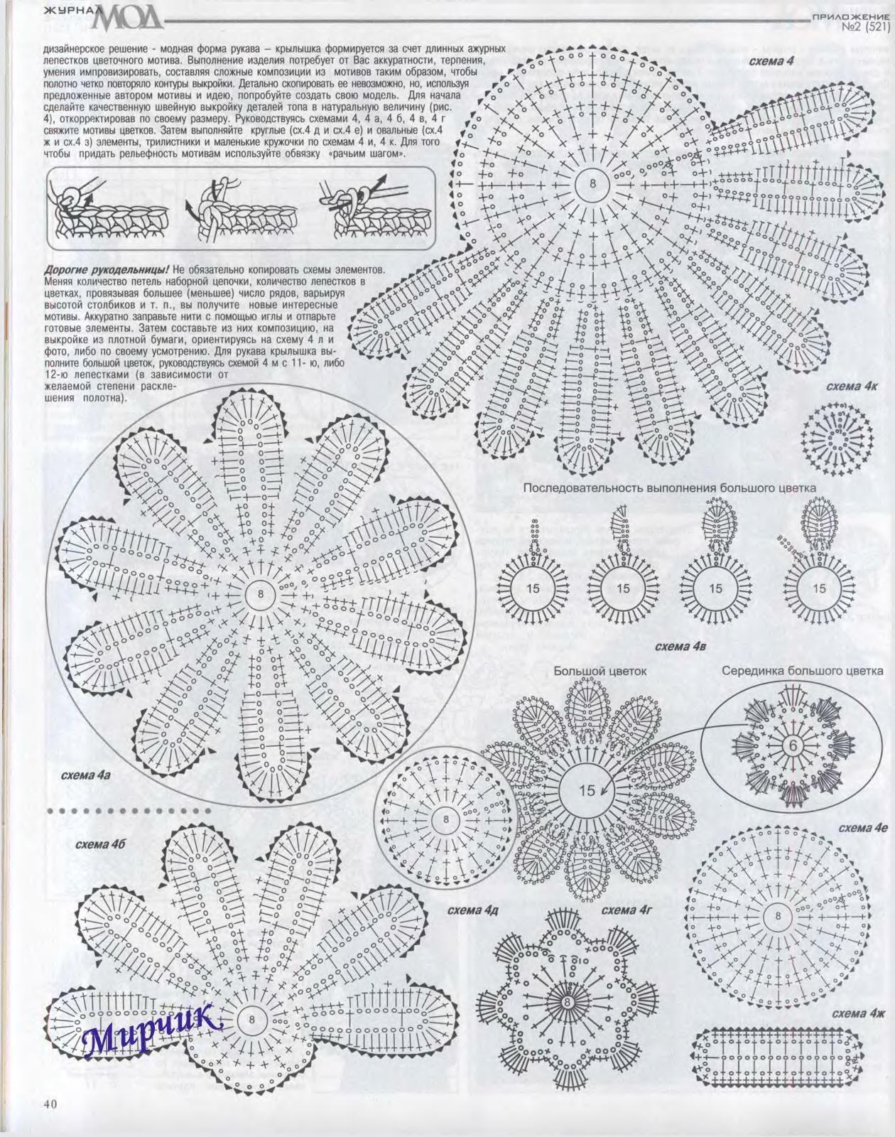 Радикал-Фото: Картинка - | patrones | Pinterest | Crochet irlandés ...