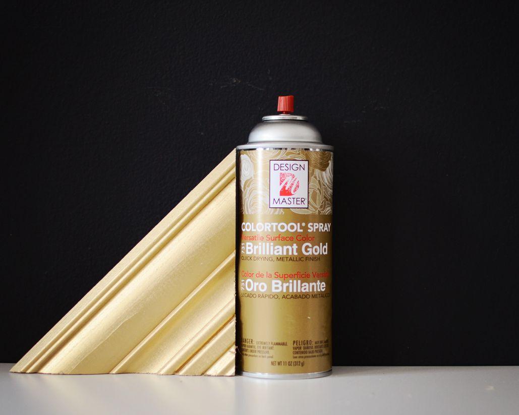 Design master brilliant gold spray paint a warm