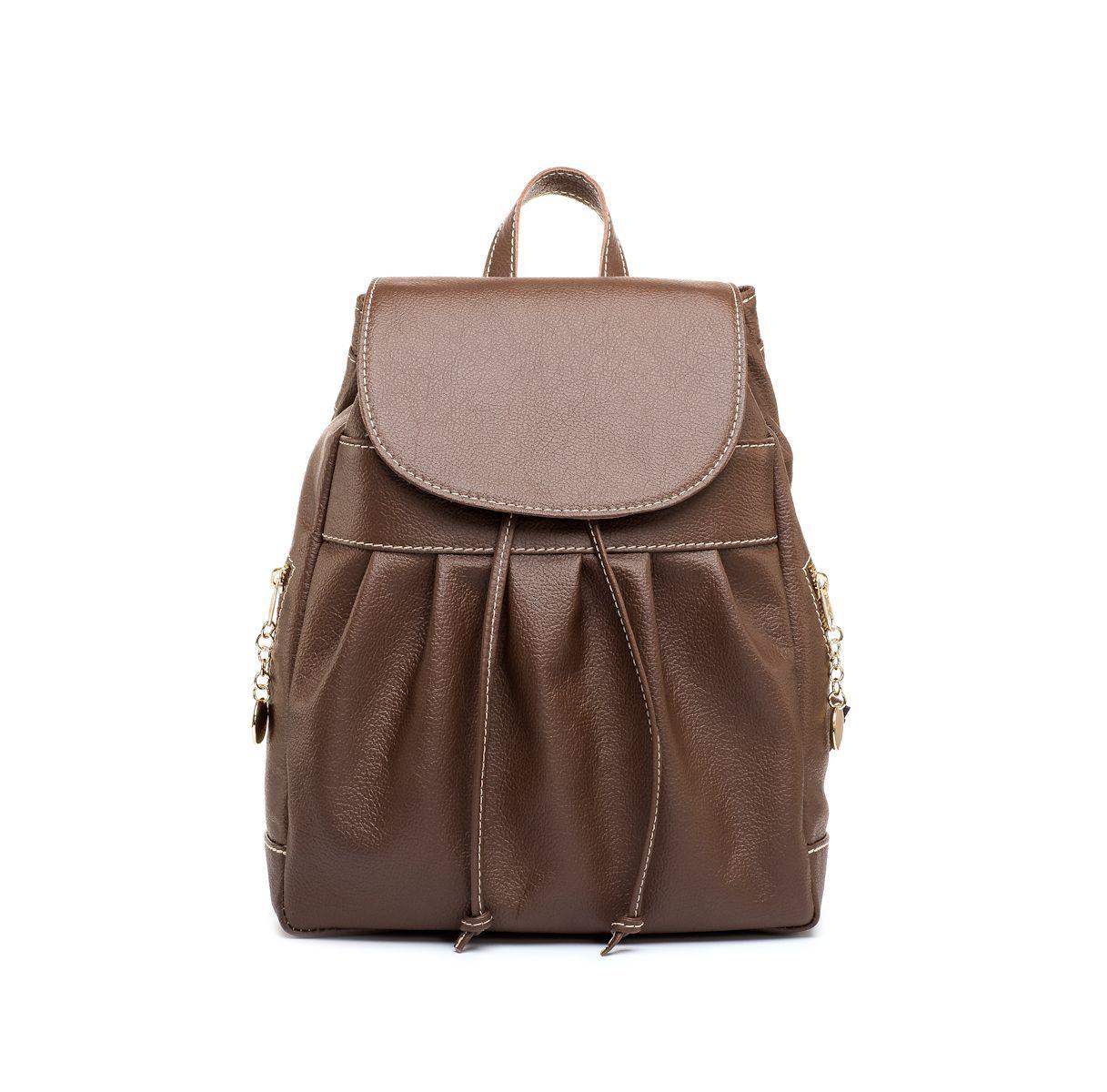 90e0b70c73 Luxusný kožený ruksak z pravej hovädzej kože č.8665 v hnedej farbe ...