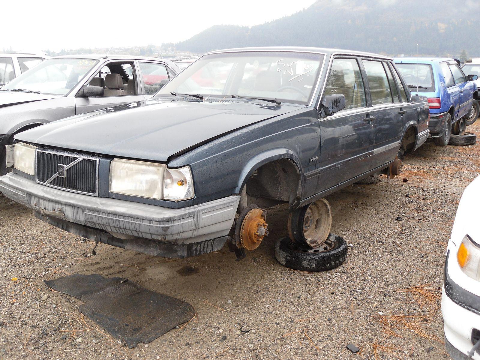 Volvo 740 in junkyards of BC