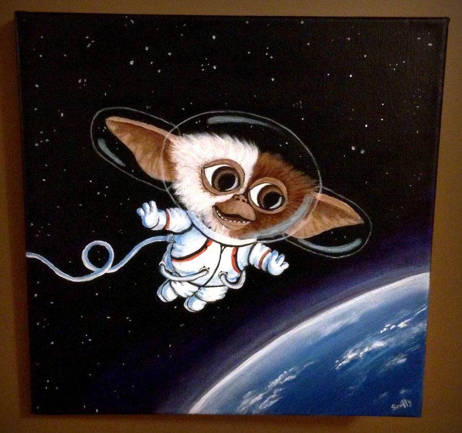 "'Little Gizmonaut' Acrylics on 12x12"" wrapped canvas"