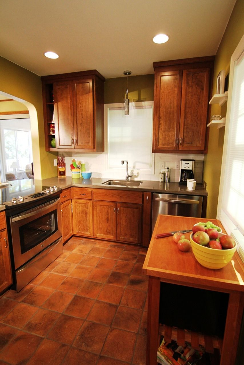 Stone Floors In Kitchen Antique Terracotta Saltillo Tile Really Adds To The Appeal Of This