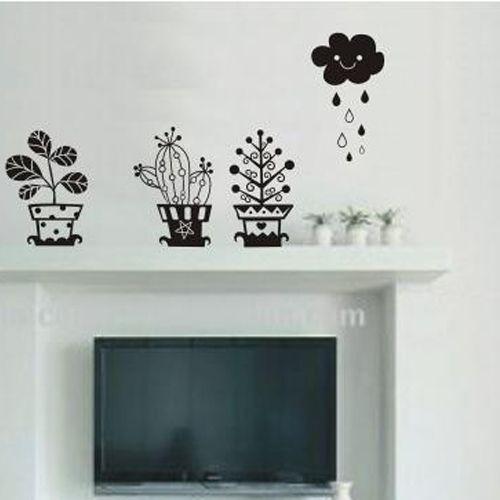 gratis verzending plant cloud regen slaapkamer woonkamer muur ...