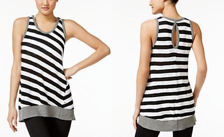 Calvin Klein Performance Striped Sleeveless Tunic