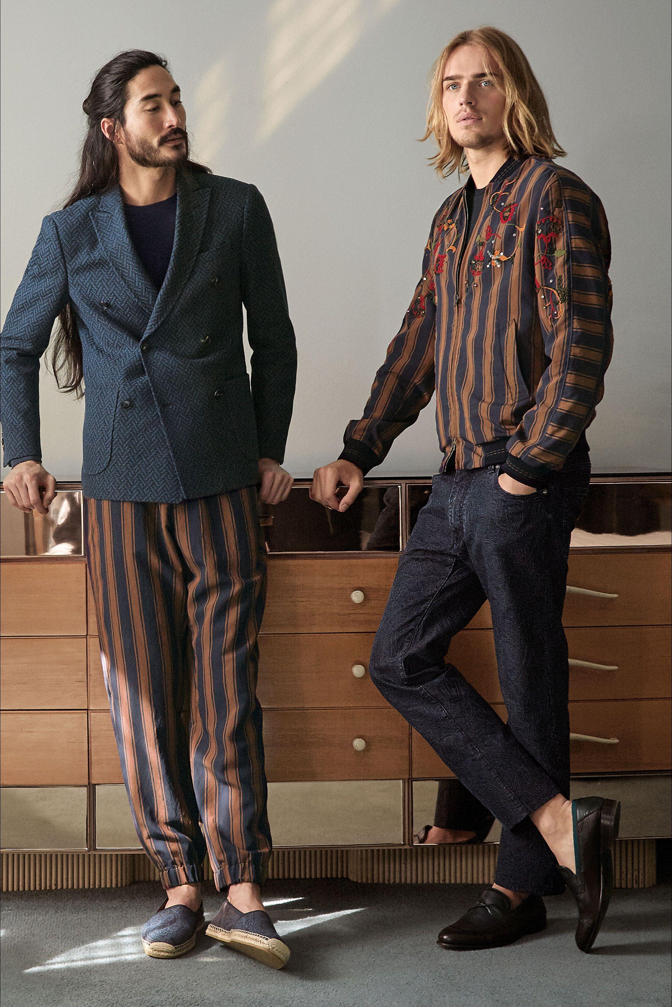 lowest price ba675 5d6fd Etro - Look 20 Pantaloni a righe verticali | Men's fashion ...