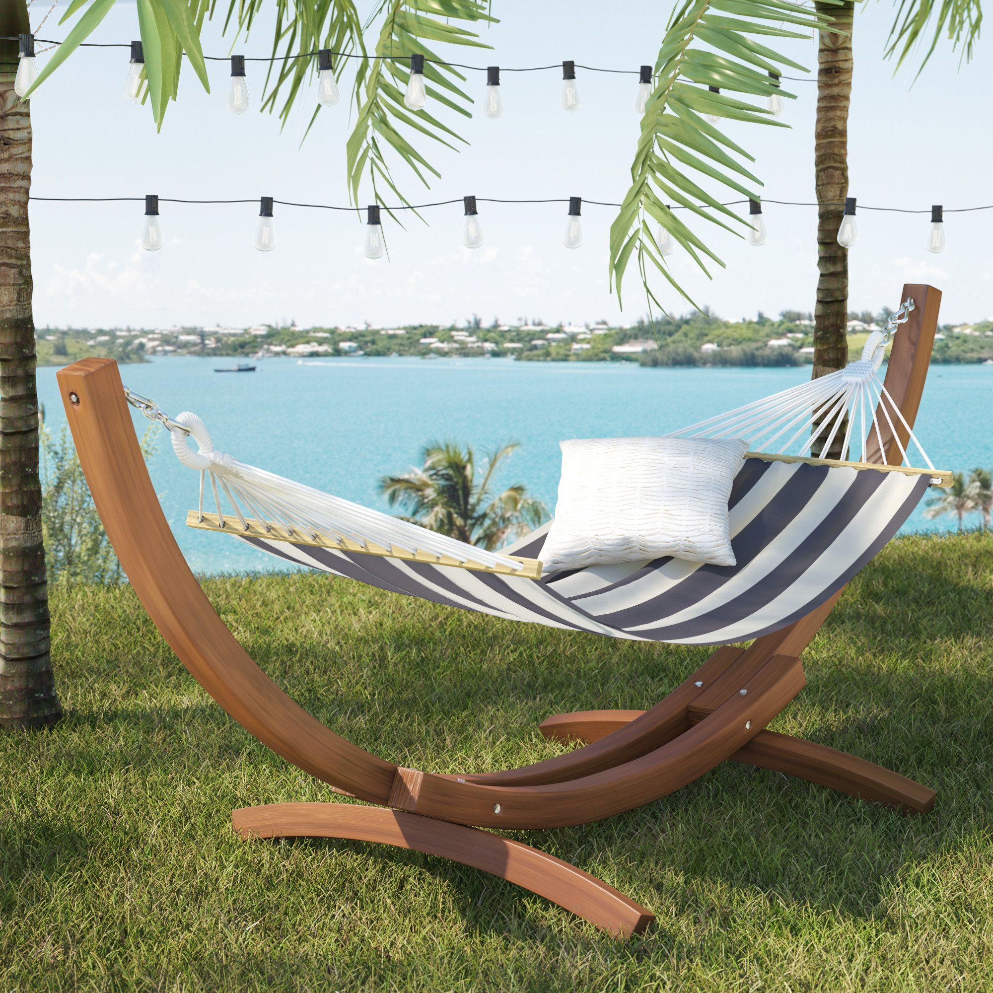 Beau Grissom Free Standing Patio Hammock With Stand