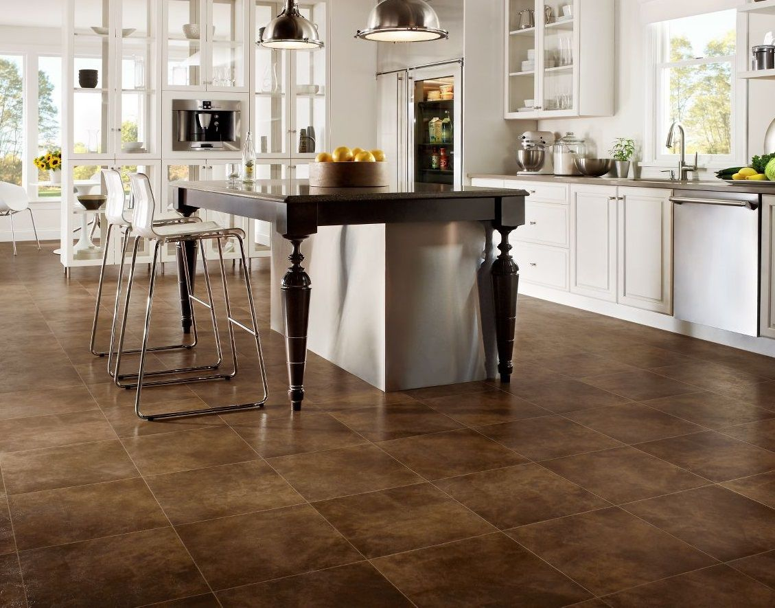 Tile Decor Store Custom Stone Vinyl Tile Flooring Is Used In Kitchendo You Like This Design Ideas
